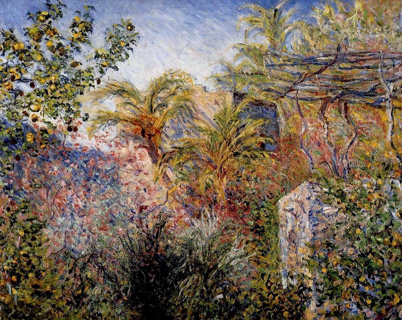 Monet 1884. The Valley of Sasso Bordighera